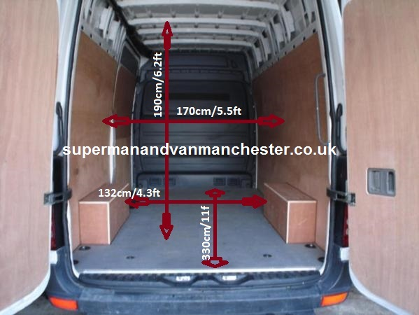 empty van sizes with web adress